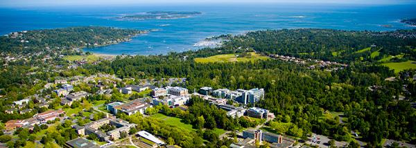 UVIC campus aerial