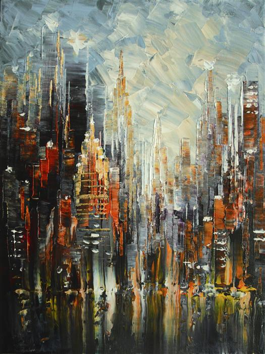 Majestic NYC TATIANA ILIINA Original art for sale at UGallery com   Majestic NYC by TATIANA ILIINA     450