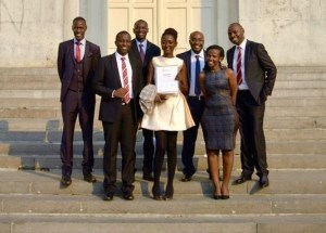 Timothy and BFL colleagues in Belgium receiving the 2017 King Baudouin African Development Prize.