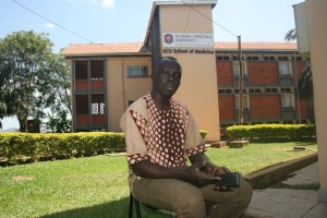 Ogwal during the interview with Uganda Partners at the Medical School premises.