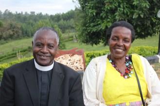 Rev. Canon Jovahn Turyamureeba and his wife, Penny (UCU Partners photo)