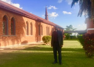 Rev. Tomson Abaho at St. James' Cathedral, Ankole Diocese.   (UCU Partners Photo)