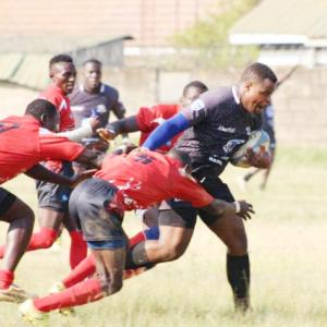 Shepherds (in red jerseys) representing Uganda at international level