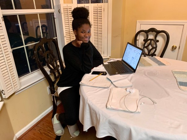 Teenager Jada Nicole Just engages in Uganda schooling remotely from her South Carolina, USA, home