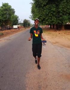 Innocent, running in Nigeria