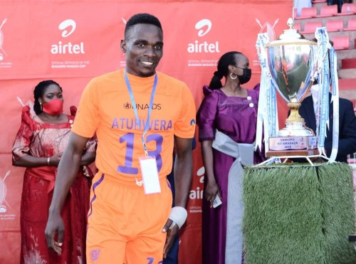 Fred Atuhwera, UCU student and star soccer player with the Gomba Lions