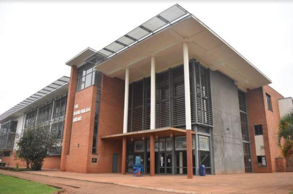 Hamu Mukasa Library's empty entrance