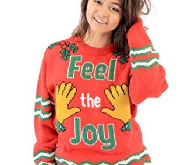 Groping Hands Feel The Joy Ugly Christmas Sweater