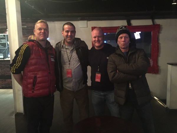 L-R: Andy Bell, Gary, Sam, Vince Clarke