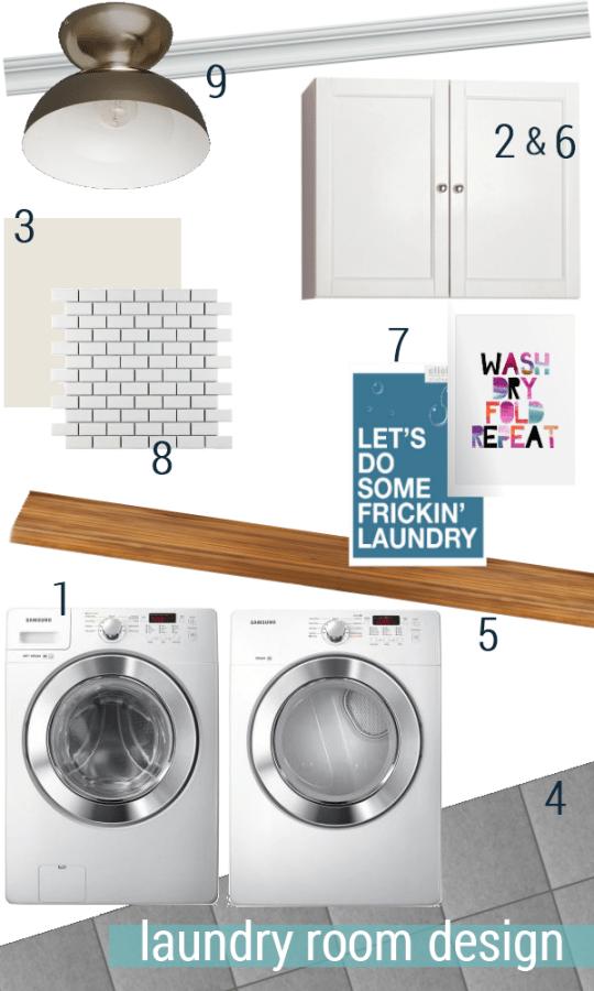 laundry room mood board