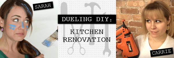 dueling DIY kitchen