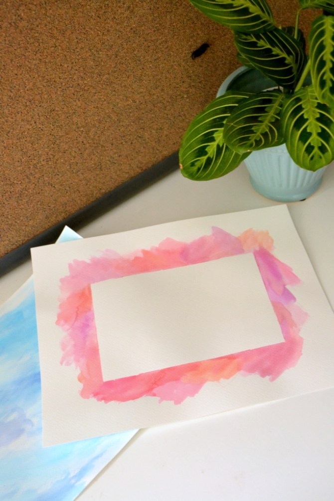 watercolor border DIY