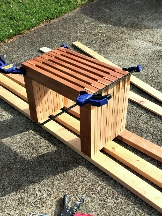 small rustic outdoor diy bench