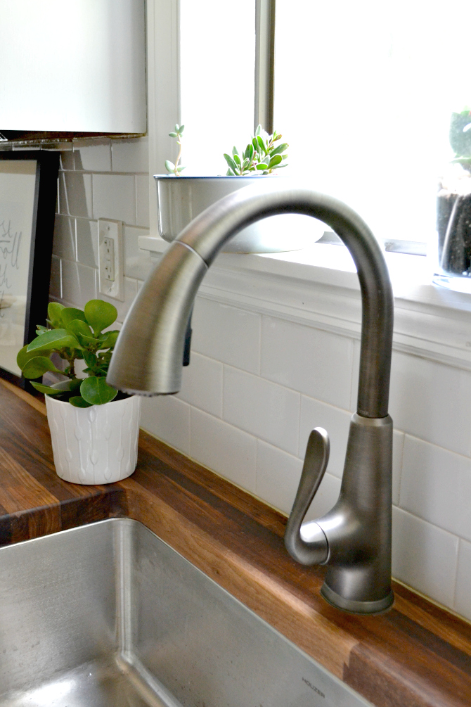 butcher block sink