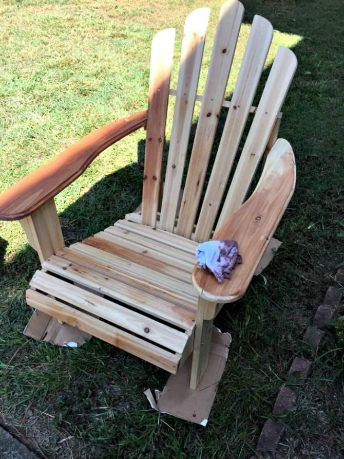 staining adirondack chairs
