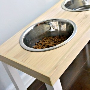DIY No-Slip Dog Feeder