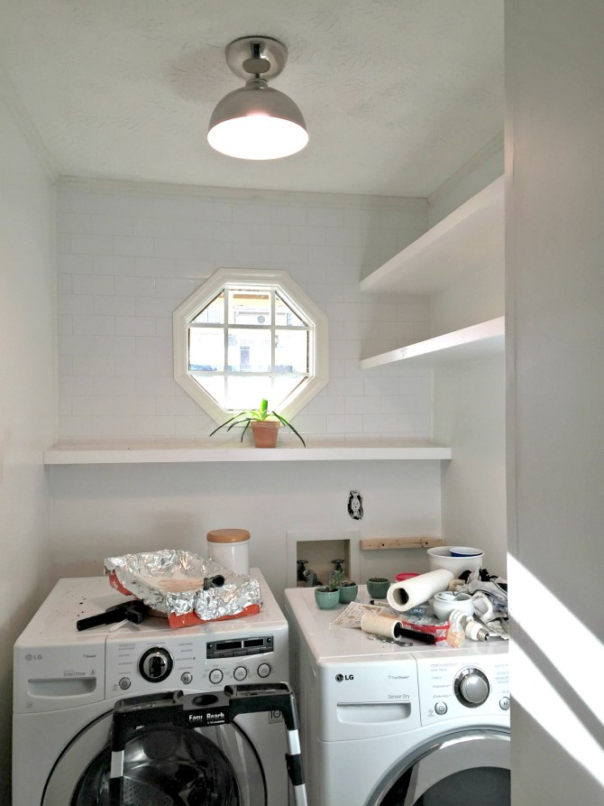 laundry room progress