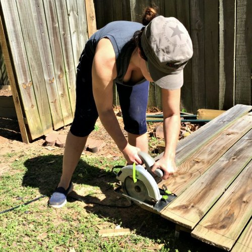cutting fence panel