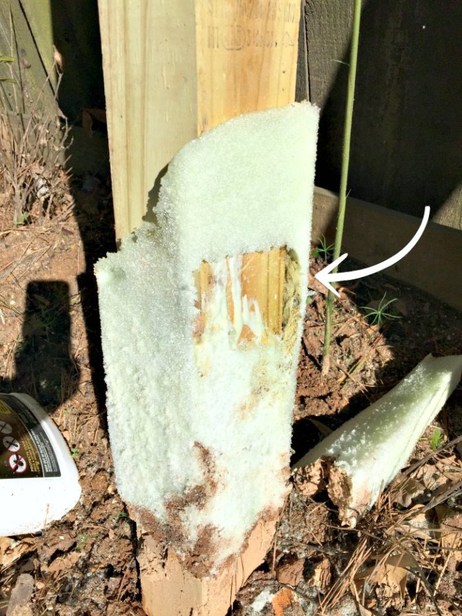 Sika fence post mix shows air pockets, leading to a less stable fence