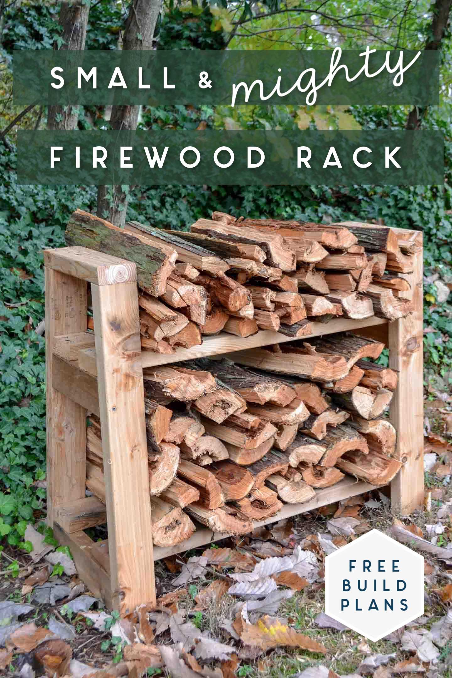 diy small firewood rack free plans