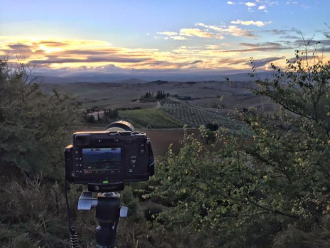 Behind the scenes in Val D'Orcia