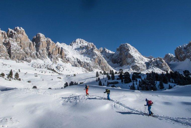 Ski tour at Sass Rigais