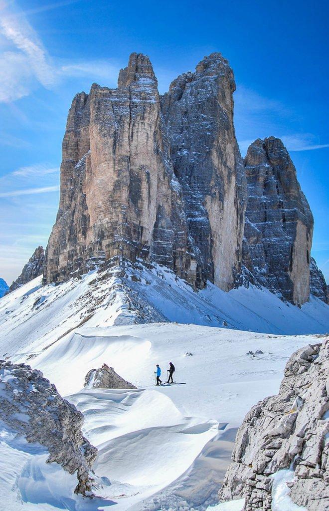 Snowshoeing at the Tre Cime di Lavaredo
