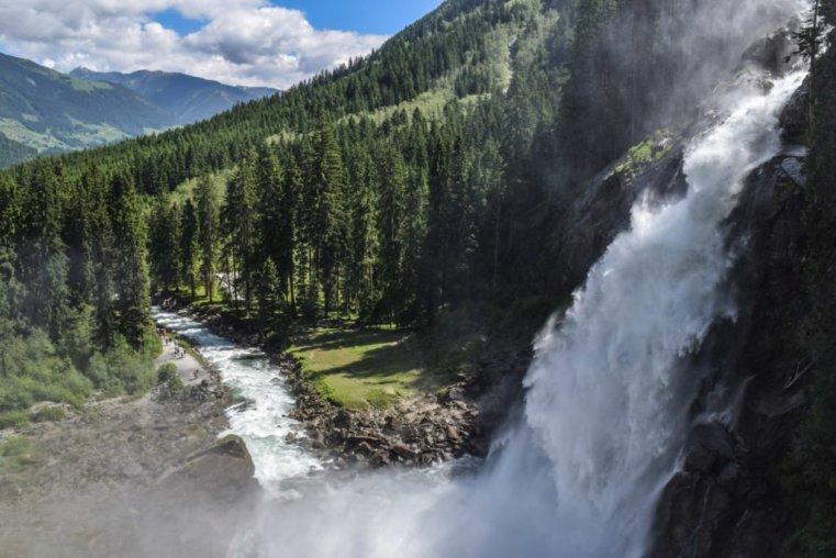 Krimml falls the Hohe Tauern