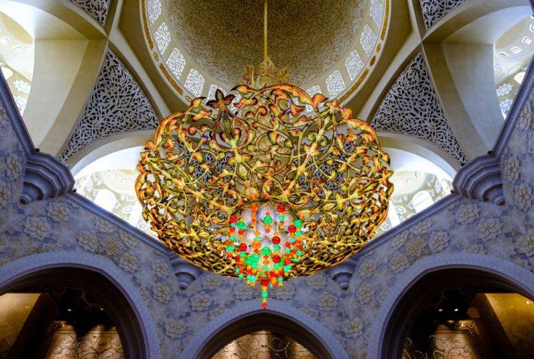 Chandelier, Sheikh Zayed Grand Mosque, Abu Dhabi, UAE