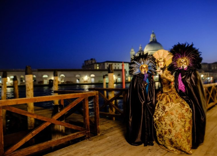Clio McClure and friends in Venice