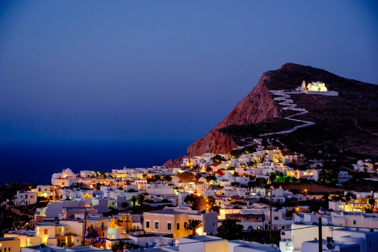 Chora and Panagia, Folegandros, Greece