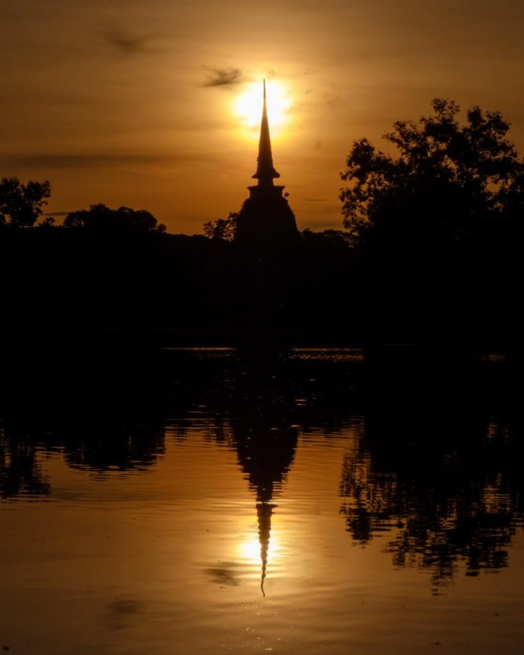 Sukhothai at sunset