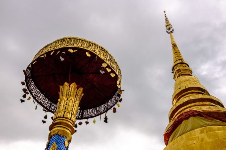 The chedi of a temple in Lampang