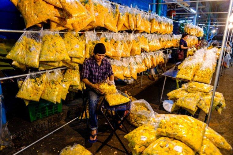 Pak Khlong Talat flower market, Bangkok