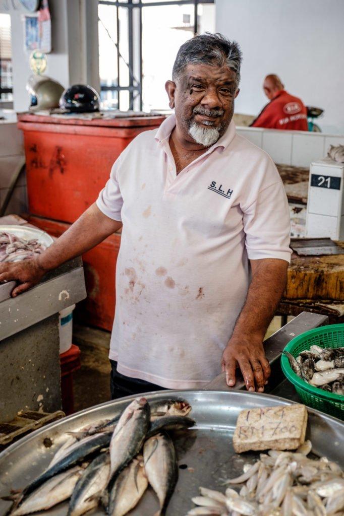 At the fish market, Penang, Malaysia