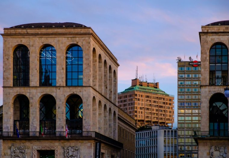 Arengario and Torre Velasca, Milan