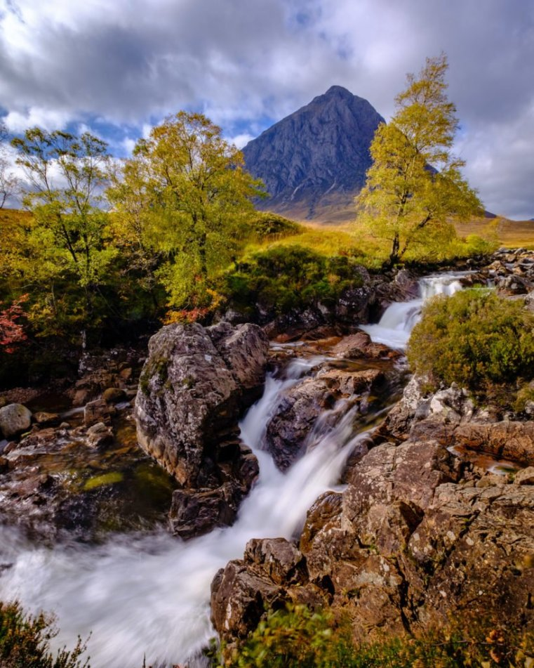 Etive Mòr Waterfall, Scotland