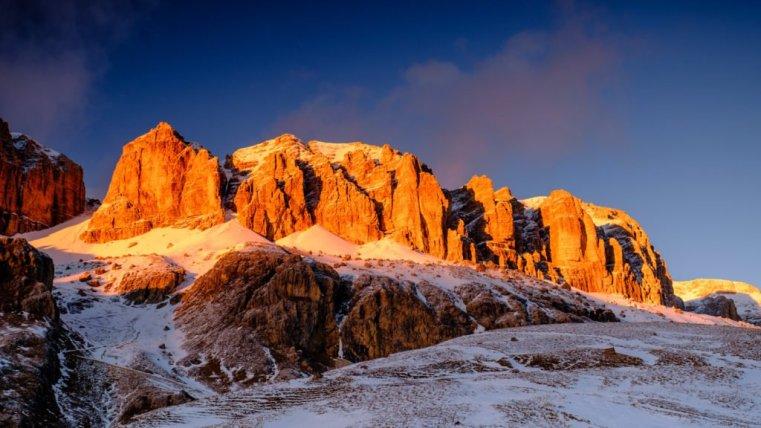 The Sella Group from Pordoi Pass, Italian Dolomites