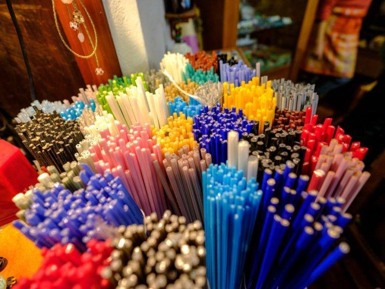 Glass sticks from Murano