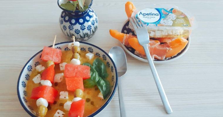 Zupa z pesto z arbuzem i melonem