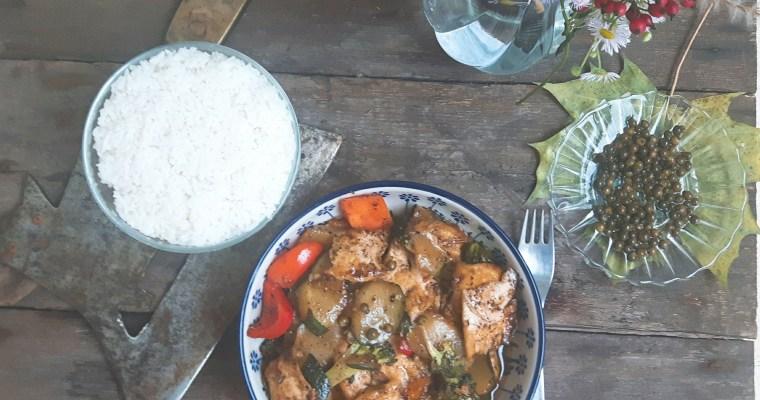 Curry z pieprzem i tofu