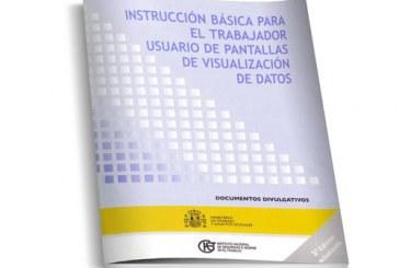 Instrucción básica para el trabajador usuario de pantallas de visualización de datos