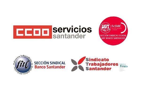 CCOO, UGT, FITC y STS con el 82,99% de representatividad firman el Acta de Acuerdo del ERE en Banco Santander