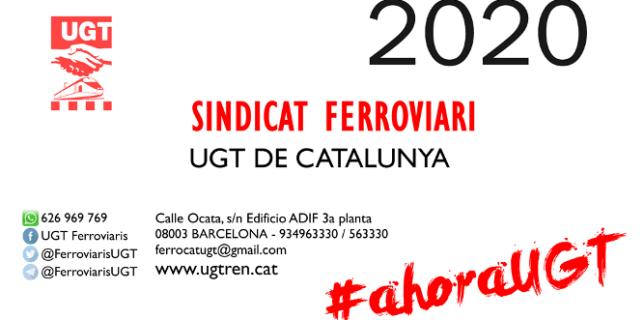 Calendari per l'any 2020 del Sindicat Ferroviari de la UGT de Catalunya