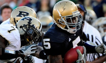 Purdue is 5-0 in season openers since 2005, but the Boilermakers are just 1-4 against the Irish in the same time span.  (Photo - Icon SMI)