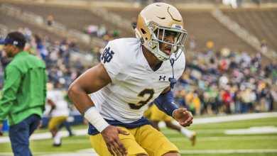 Notre Dame freshman safety Houston Griffith