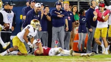 Notre Dame CB Julian Love vs. Stanford in 2017