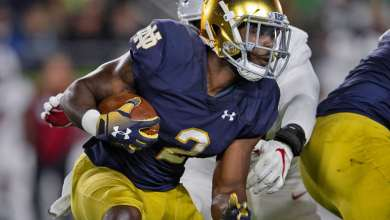 Notre Dame RB Dexter Williams in action vs. Stanford