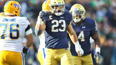 Notre Dame LB Drue Tranquill is still questionable for Northwestern