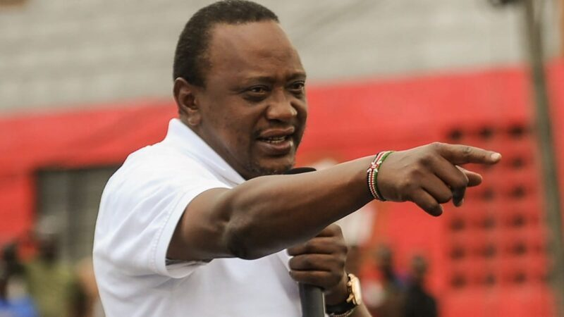 President Uhuru Kenyatta adressing a past gathering |His labour day remarks targeting social media users have not been well-received.